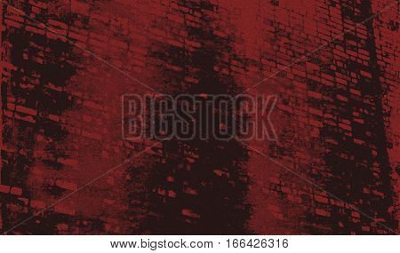 Abstract image of a brick wall. Red black abstract background.  Red and black. Red and black grunge. Dark grunge. Abstract art. Abstract artwork. Art. Wall.