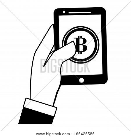 digital access to account letter B as emblem bank related icons image vector illustration design
