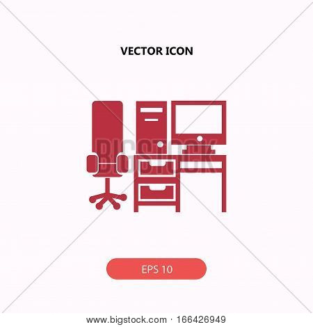 computer set with table and chair Icon, computer set with table and chair Icon Eps10, computer set with table and chair Icon Vector, computer set with table and chair Icon Eps, computer set with table and chair Icon Jpg, computer set with table and chair