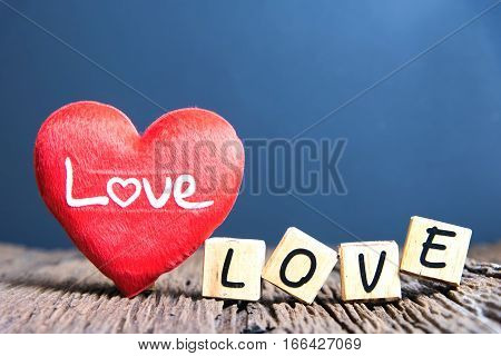 Heart And Wooden Alphabet