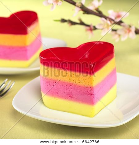 Heart-Shaped Cake Called Torta Helada