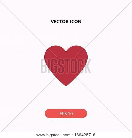 hearth vector icon isolated on white background