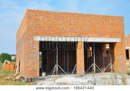 Building New Brick Garage for two cars without Garage Doors