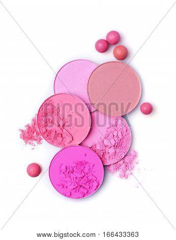 Pink Crashed Blush And  Ball Blush