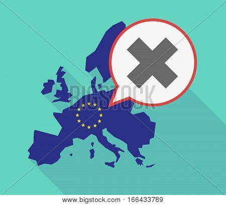 Long Shadow Eu Map With An X Sign