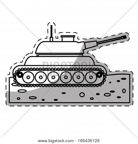 war tank weapon  icon image vector illustration design