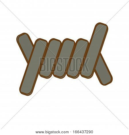 barbed wire section  icon image vector illustration design