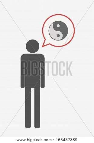 Isolated Pictogram With A Ying Yang
