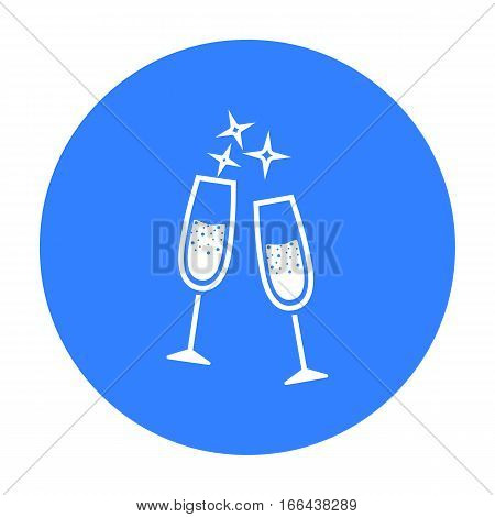 Champagne glass icon of vector illustration for web and mobile design - stock vector