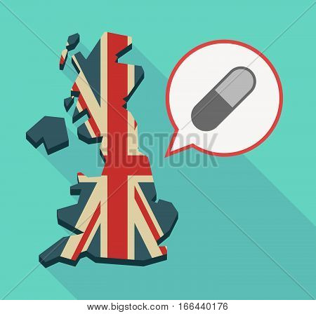 Long Shadow Uk Map With A Pill
