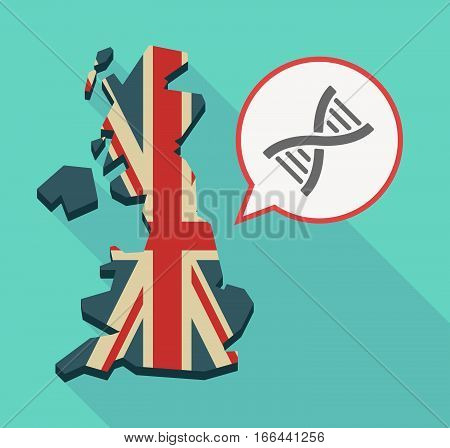 Long Shadow Uk Map With A Dna Sign