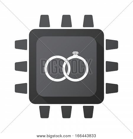 Isolated Chip With  Two Bonded Wedding Rings