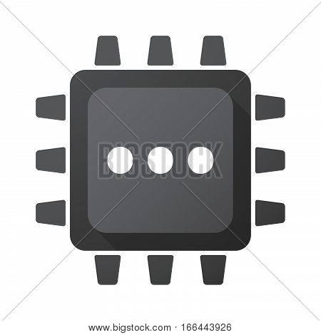 Isolated Chip With  An Ellipsis Orthographic Sign