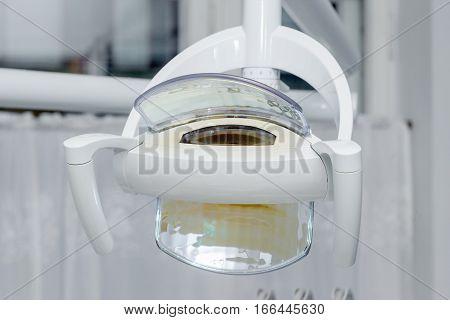 Dental lamp in a dental clinic .