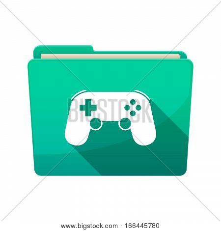 Isolated Folder With  A Game Pad