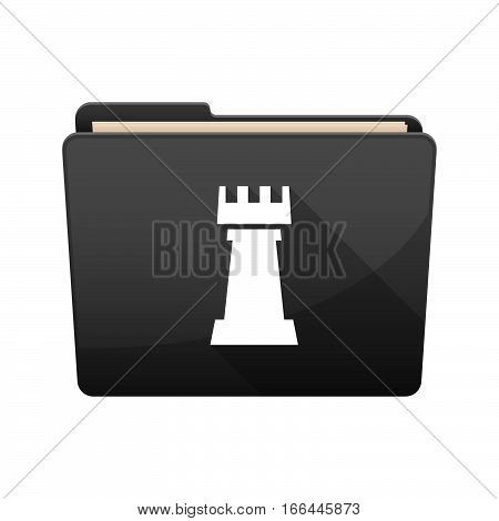 Isolated Folder With A  Rook   Chess Figure