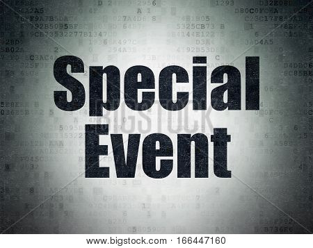 Business concept: Painted black word Special Event on Digital Data Paper background