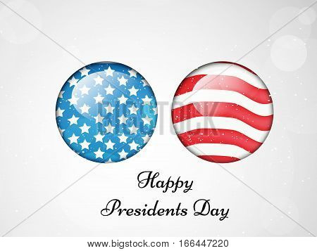 Illustration of U.S.A Flag for President Day
