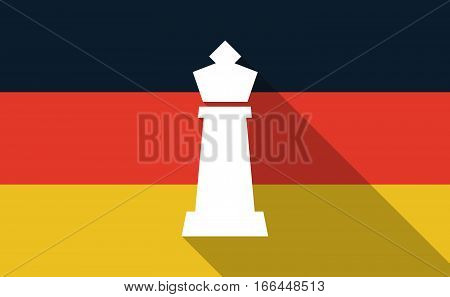 Long Shadow Germany Flag With A  King   Chess Figure