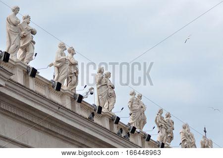 Architectural Details On The San Pietro Basilica, Vatican