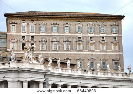 The Papal Apartments In The Vatican City