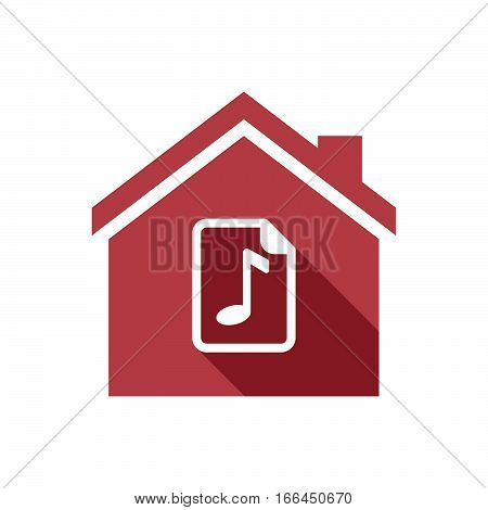 Isolated House With  A Music Score Icon