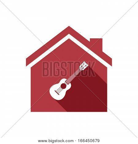 Isolated House With  An Ukulele