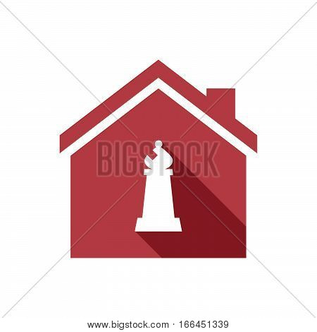 Isolated House With A Bishop    Chess Figure