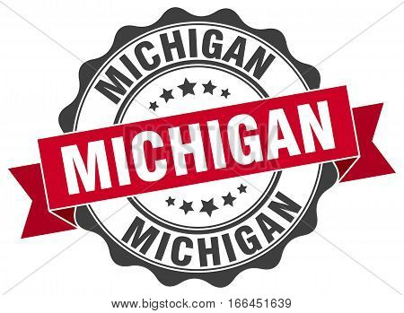 Michigan. round isolated grunge vintage retro stamp