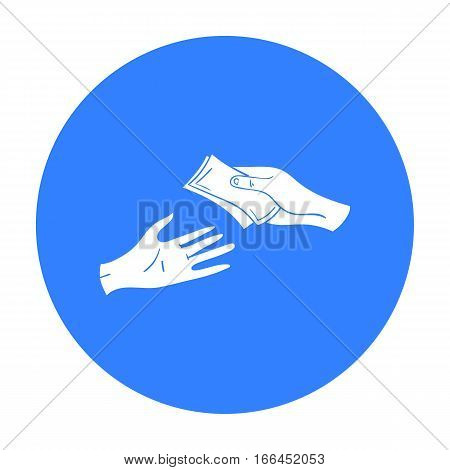 Payment icon in black design isolated on white background. Supermarket symbol stock vector illustration. - stock vector