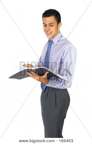 Business Man With A Folder