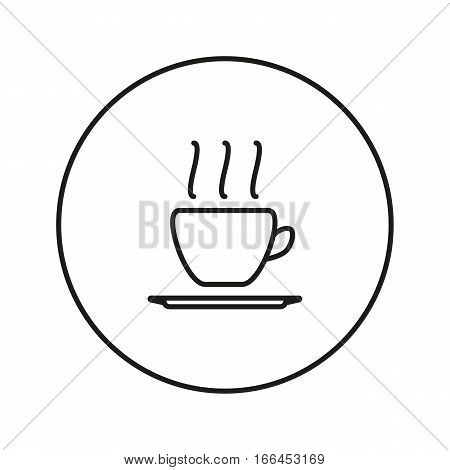Hot coffee. Icon for web and mobile application. Vector illustration on a white background. Line