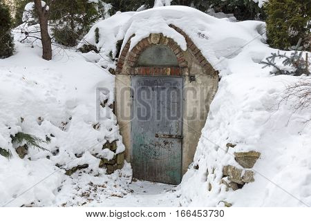 The Metal Door In The Bomb Shelter