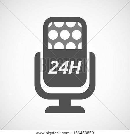 Isolated Mic With    The Text 24H