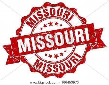 Missouri. round isolated grunge vintage retro stamp