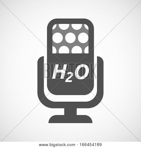 Isolated Mic With    The Text H2O