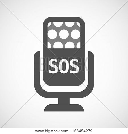 Isolated Mic With    The Text Sos