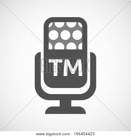 Isolated Mic With    The Text Tm