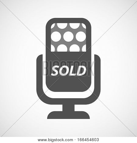 Isolated Mic With    The Text Sold