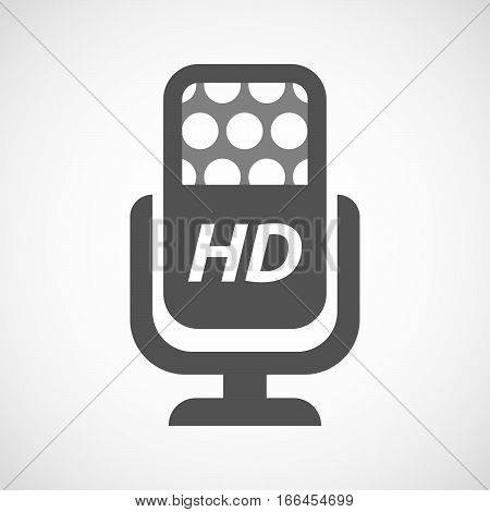 Isolated Mic With    The Text Hd