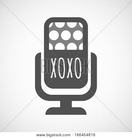Isolated Mic With    The Text Xoxo