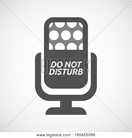 Isolated Mic With    The Text Do Not Disturb