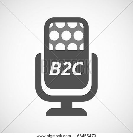 Isolated Mic With    The Text B2C
