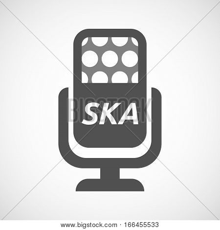 Isolated Mic With    The Text Ska