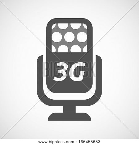 Isolated Mic With    The Text 3G