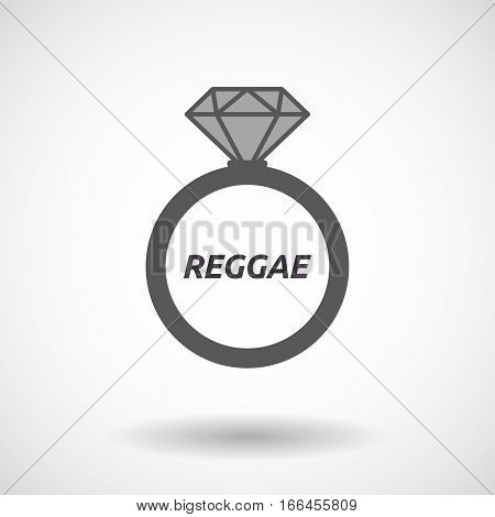Isolated Ring With    The Text Reggae
