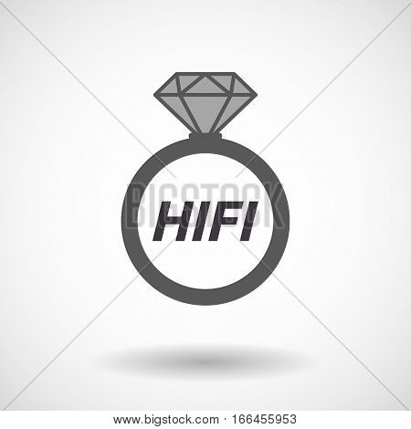 Isolated Ring With    The Text Hifi