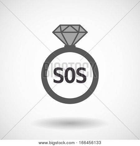 Isolated Ring With    The Text Sos