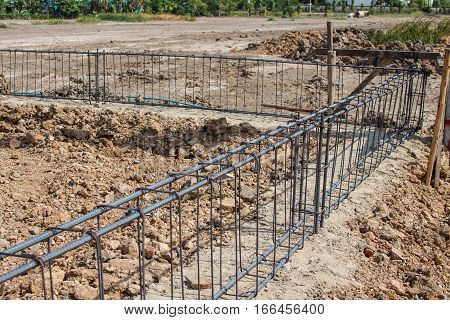Reinforcing steel rods bars for building construction