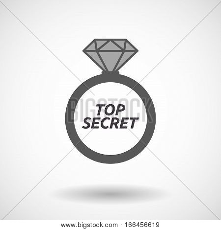 Isolated Ring With    The Text Top Secret